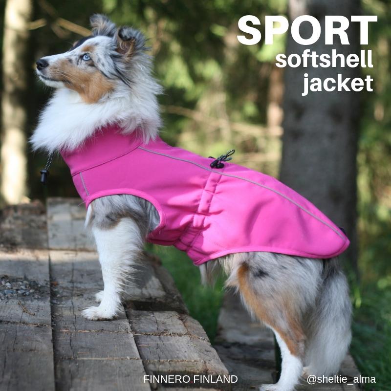 SPORT softshell koiran takki pinkki | FinNero Oy Ltd
