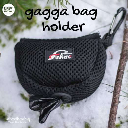 gagga bag holder mustana kuva: Tiina Korhonen